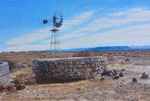 Johan Coetzee Tankwa Karoo oil 29x44cm